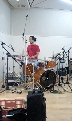 今日は日本松バンドレコーディング